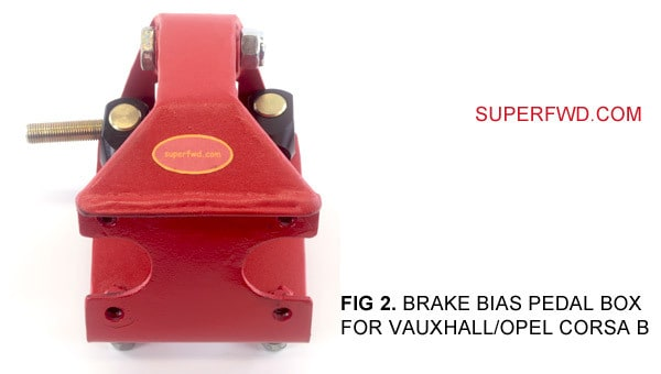Brake Bias Pedal Box: For Vauxhall/Opel Corsa B