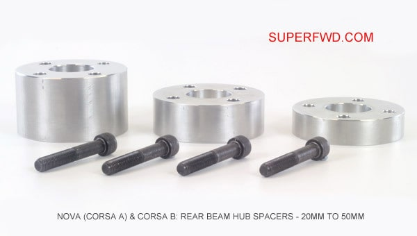 Rear Beam Hub Spacer: Nova (Corsa A) & Corsa B (20mm to 50mm)